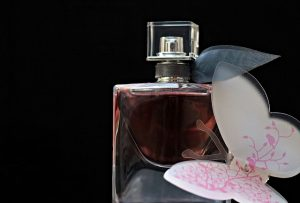 perfume, flacon, glass bottle